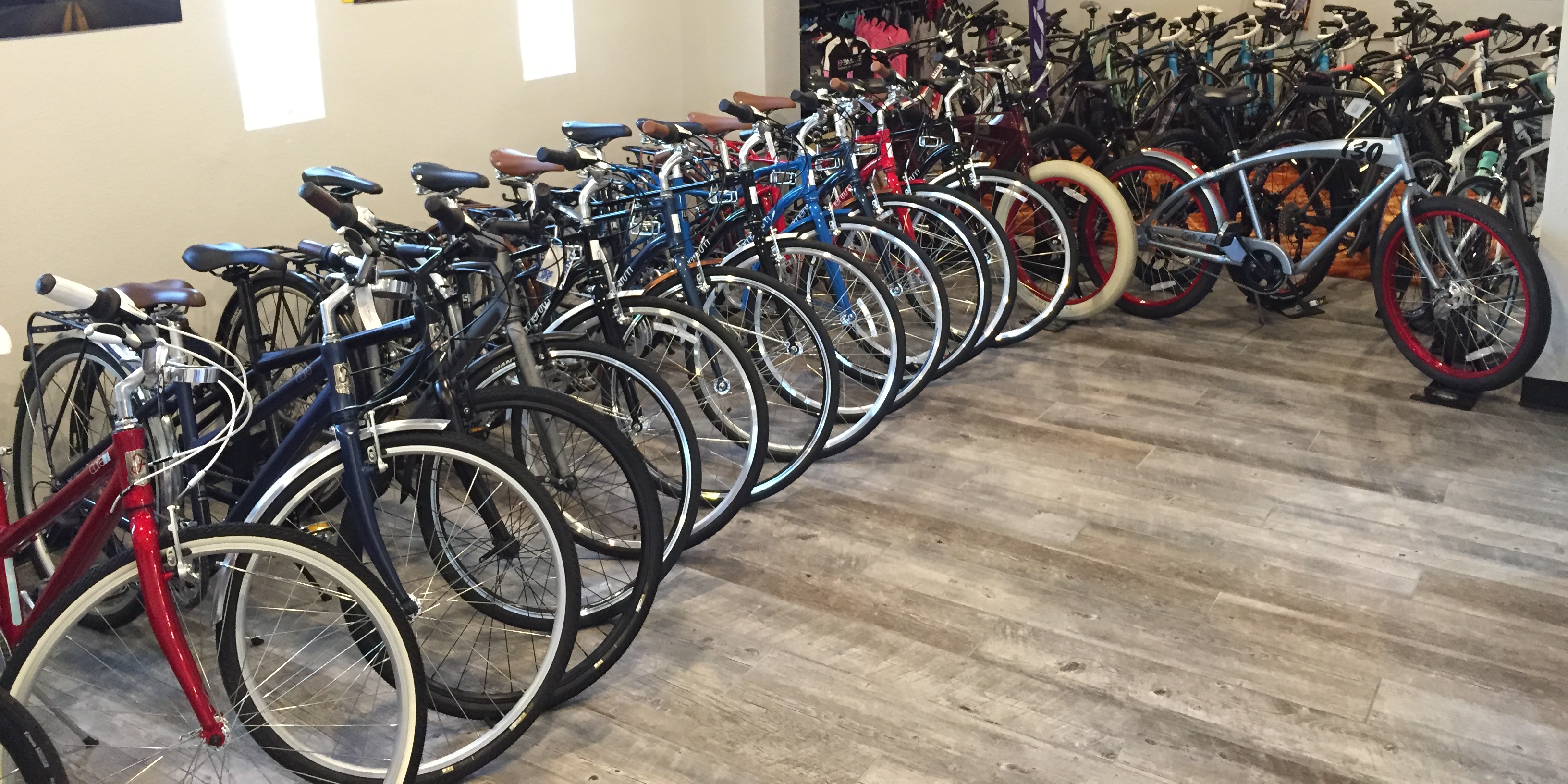 Lineup of bikes at The Velo